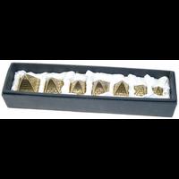 Coffret 7 Pyramides en Laiton