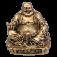 Bouddha Rieur en Résine Dorée 9 cm