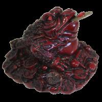 Grenouille en Résine Rouge 6 cm