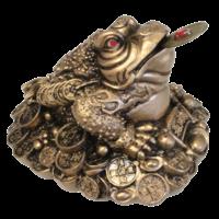 Grenouille en Résine Dorée 6 cm