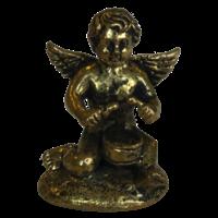 Mini Statue Ange et Tambour Laiton 1,5 x 2,5 cm