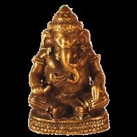 Mini Statue Ganesh Assis Laiton 1,5 x 3 cm - Lot de 3