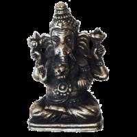 Mini Statue Ganesh Métal Argenté - Lot de 3