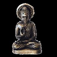 Mini Statue Bouddha Métal Argenté - Lot de 3