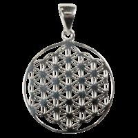 Médaille Fleur de Vie Argent 925 - 2 cm