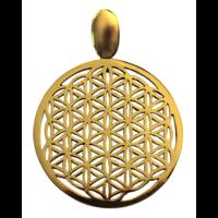 Médaille Fleur de Vie laiton 3,6 cm