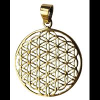 Médaille Fleur de Vie Laiton 2,8 cm