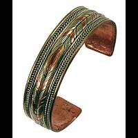 Bracelet 3 Métaux - Largeur 1,8 cm