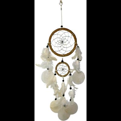 Dreamcatcher Plume Naturel - Longueur 48 cm