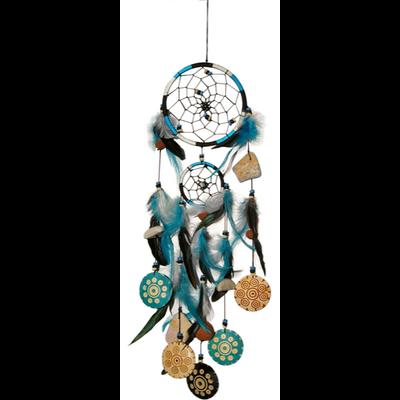Attrape Rêves - Bleu Turquoise - 12 cm