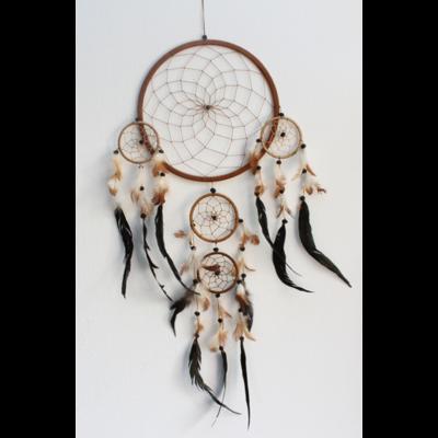 Dreamcatcher Grand Modèle Naturel - 26 cm