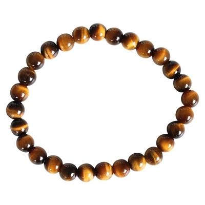 Bracelet Perles Rondes Oeil de Tigre 6 mm