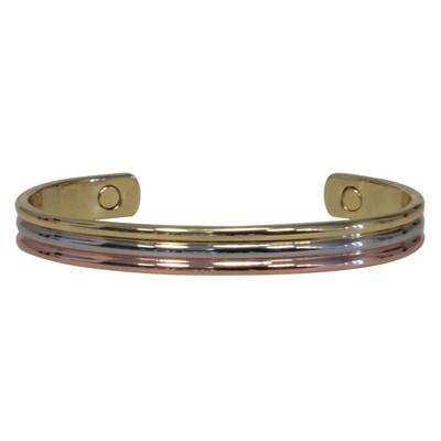 Bracelet Magnétique Bombé 3 Métaux