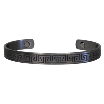 Bracelet Magnétique Métal Argenté Mat