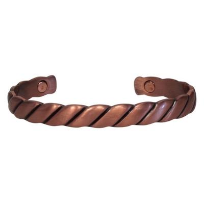 Bracelet Magnétique Cuivre - Modèle 4 Torsadé