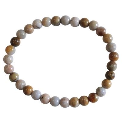 Bracelet Perles Rondes Agate Crazy Lace - 6 mm (Lot de 3)