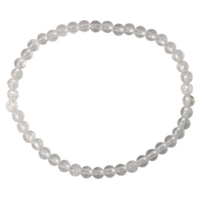 Bracelet Perles rondes Cristal de roche 6 mm