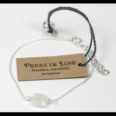 Bracelet en Argent Coussin de Pierre de Lune