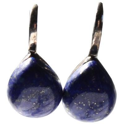 Boucles d'Oeilles Pierre Bombée Lapis Lazuli