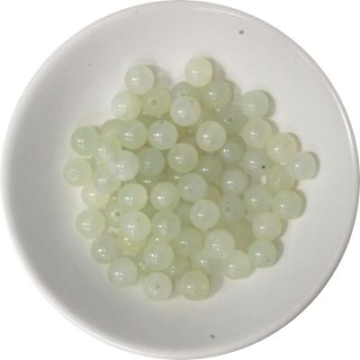 Perles Jadéite 6 mm - Sachet de 66 Perles