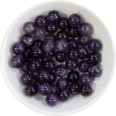 Perles Améthyste 8 mm - Sachet de 50 Perles