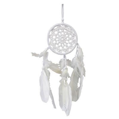Dreamcatcher Blanc au Crochet 9 cm