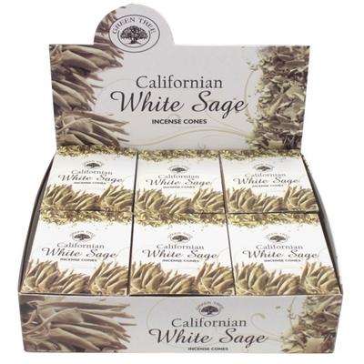 Encens Green Tree White Sage Cônes 15 grammes - Lot de 12