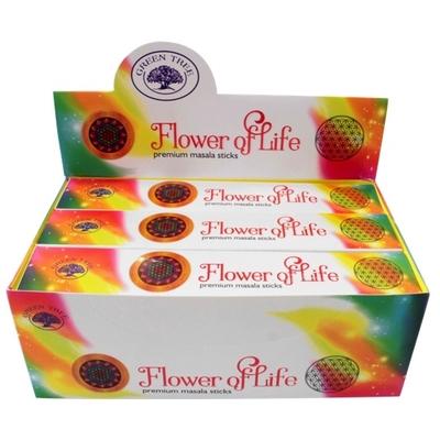 Encens Green Tree Flower of Life 15 grammes - Lot de 12