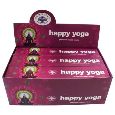 Encens Green Tree Happy Yoga 15 grammes - Lot de 12