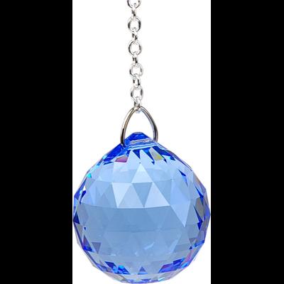 Boule de Cristal à Facettes Saphir : Vishuddha