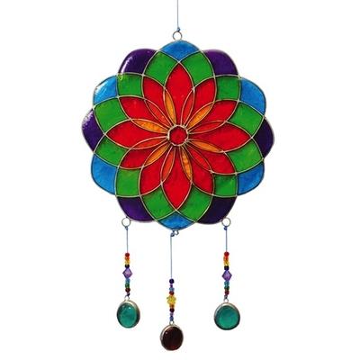 Attrape Soleil : Mandala - Vert Avec Perles