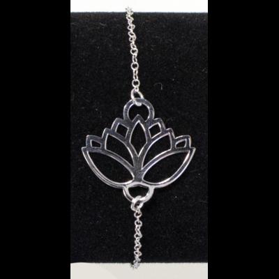 Bracelet Argent Fleur de Lotus