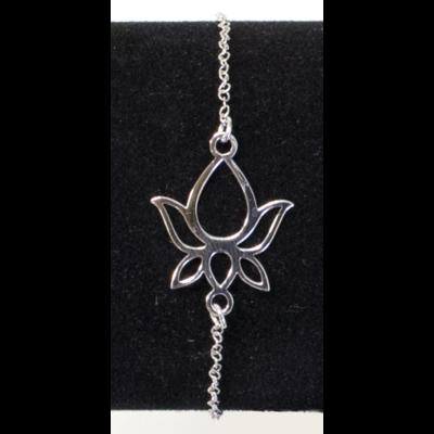 Bracelet Argent Pétale Fleur de Lotus