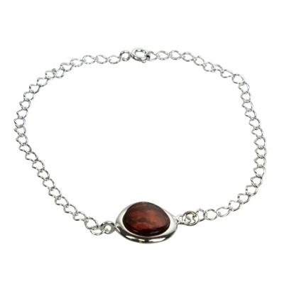 Bracelet Coussin Ambre Brun
