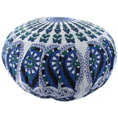 Zafu Moderne Mandala Bleu Vert