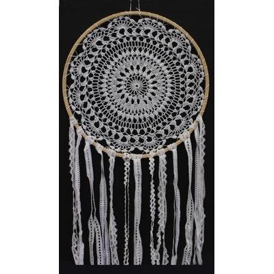 Dreamcatcher Crochet et Dentelle Lavanda - 35 cm
