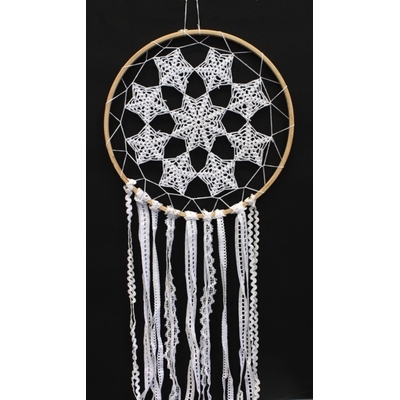 Dreamcatcher Crochet et Dentelle 7 étoiles - 30 cm