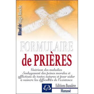 Formulaire de Prières - Benjamin Manassé