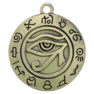 Pendentif Argenté Rond - Oeil d' Horus