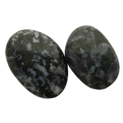 Galet de Gabbro Merlinite - Lot de 2