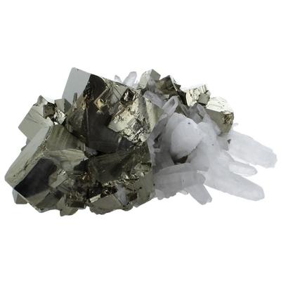 Amas Pyrite et Cristaux - 1,5 à 1,7 kilos