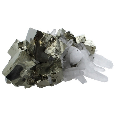 Amas Pyrite et Cristaux - 800 grammes à 1 kilo