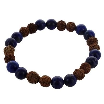 Bracelet Homme Lapis Lazuli et Perle de Rudraksha