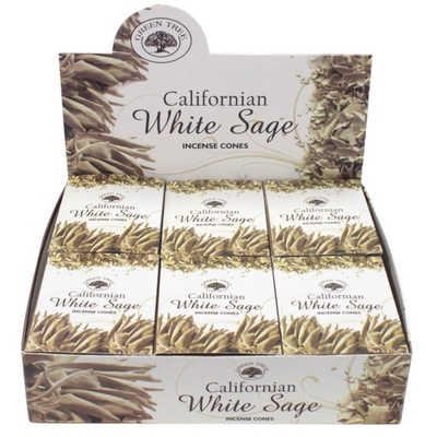 Encens Green Tree White Sage Cones 15 grammes