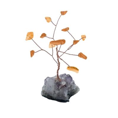 Arbre du Bonheur Citrine 12 pierres
