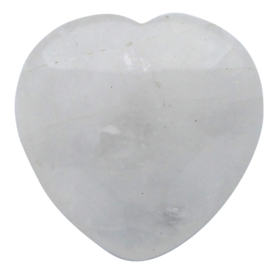 Coeur Cristal de Roche - 4,5 cm