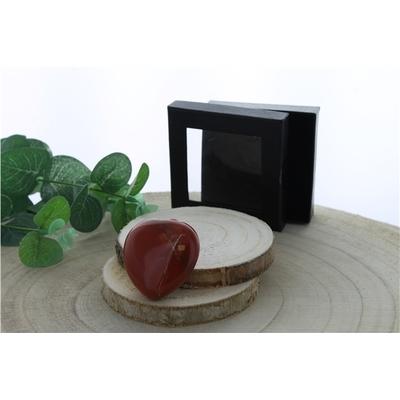 Coeur Jaspe Rouge - 4,5 cm