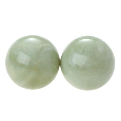 69466-1-Boules de Relaxation Chinoises en Jade Vert