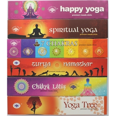 Coffret Encens Bâton Green Tree Yoga 6 Fragrances