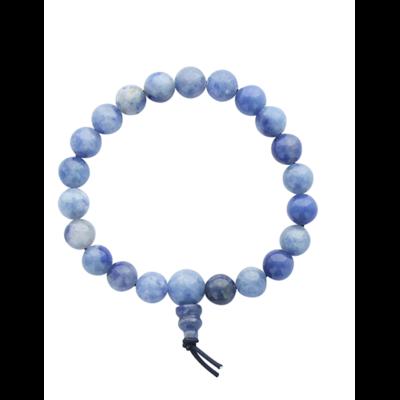 Bracelet Mala en Quartz Bleu